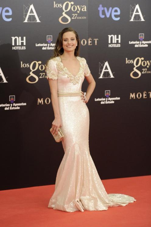 Michelle Jenner en los Goya 2013.