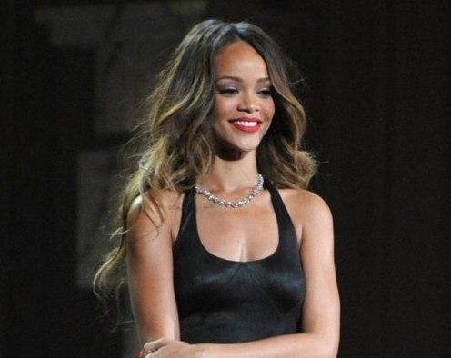 Rihanna en la Fashion Week de Londres.