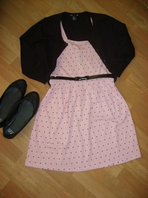 Vestido nude-rosa palo.
