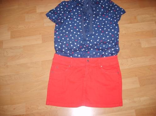 Rojo con azul-navy