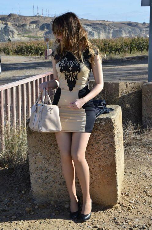 brown-black-dress-1